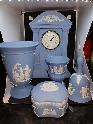 Wedgwood Jasperware Blue Vintage Lot Excellent Condition - Collection Leicester • 60£