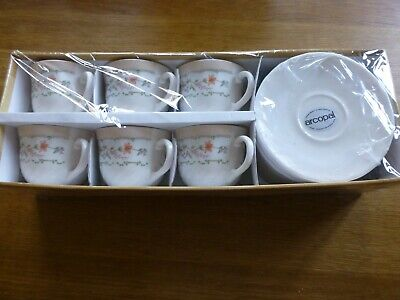 Arcopal 12 Piece, 6 Cups & 6 Saucers, Brand New In Box • 12.50£