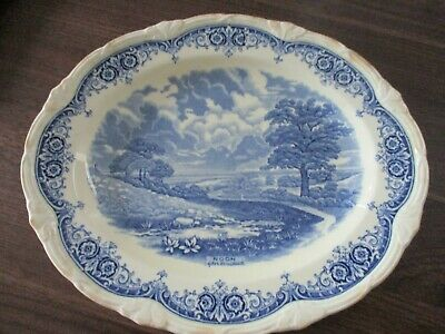 Grindley Scenes After Constable Oval Plate  --noon 32 • 22£