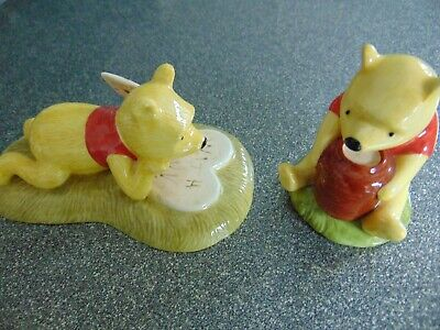 ROYAL DOULTON DISNEY WINNIE THE POOH FIGURES X 2 BOTHERS DISAPPEAR & HONEYPOT • 9.99£