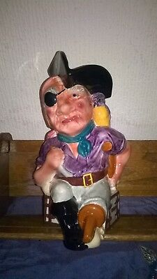 VINTAGE SHORTER & SONS. `LONG JOHN SILVER` FIGURE. HAND PAINTED. 10 Ins. TALL • 16£
