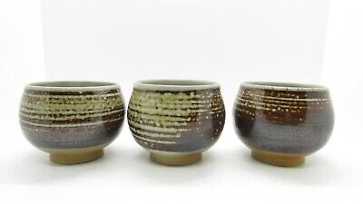 GUY SYDENHAM SIGNED  Poole Pottery 3 Cups  • 90£