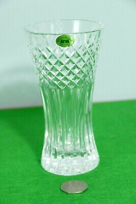 Vintage Tyrone Irish Quality Crystal Vase 6  Ex Condition - Stamped • 6.99£