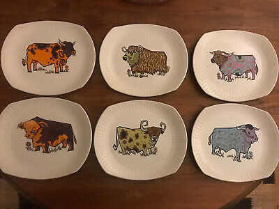 Full Set Of 6 Beefeater Vintage Steak Plates English Ironstone Pottery • 38£