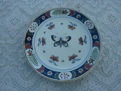 Antique Hand Painted Delft Plate • 0.99£