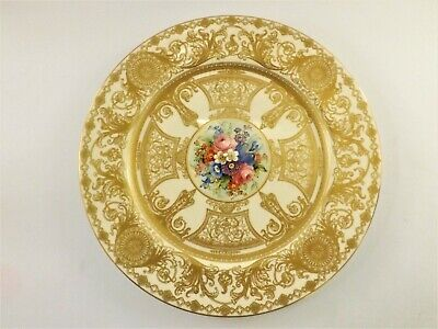 Rare Antique Royal Worcester Plate Dated 1910 & Signed By Harry Chair Ref 287 • 10.50£