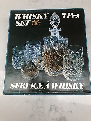 Whisky 7PCs Set Bohemia Lead Crystal  24%pbo. Never Been Used Stored In Loft • 10£