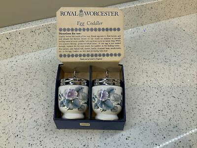 Boxed Royal Worcester Egg Coddlers - Never Used • 13.50£