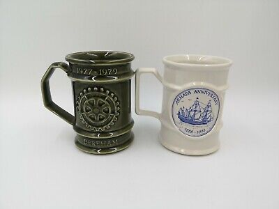Lot Of 2 Holkham Pottery Cup / Mug, Good Condition • 5£