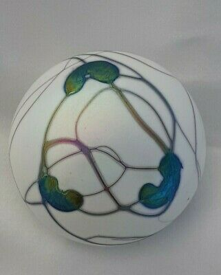 Heron Glass Lily Pad Pebble - Etched On Base - Hand Crafted In Ulverston, Boxed • 42£