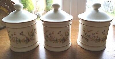 RARE Vintage Three X Marks And Spencer M&S Harvest Storage Canisters Jars • 8£