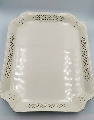 Leeds Creamware Pottery, Extra Large Plate /charger / Tray • 9.99£