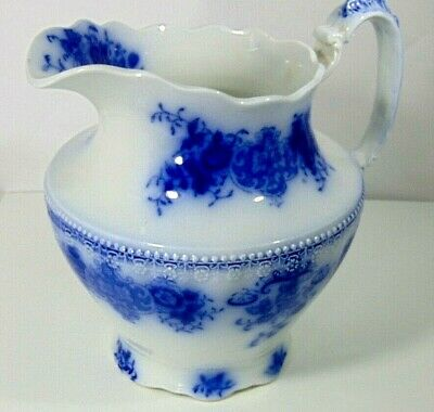 19th Pitcher  9  Flow Blue England _grindley_ Ironstone Victorian  Home Modern • 57.78£
