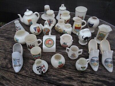 Collection Of 27 Pieces Of Early Twentieth Century Crested Ware. • 14.95£