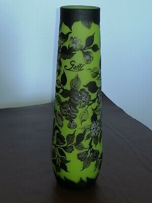 A Galle Cameo Glass Vase • 265£