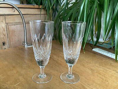 2 Marked S Thomas Webb Crystal Normandy Champagne Glasses 16.4cm X 6.0cm  K • 25£