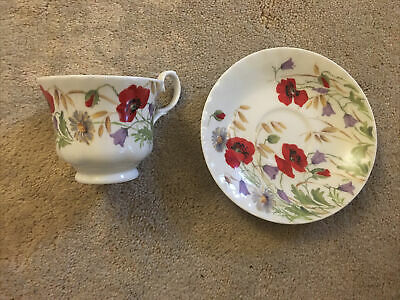 English Meadow By Roy Kirkham Fine Bone China Cup And Saucer 2001 • 29£