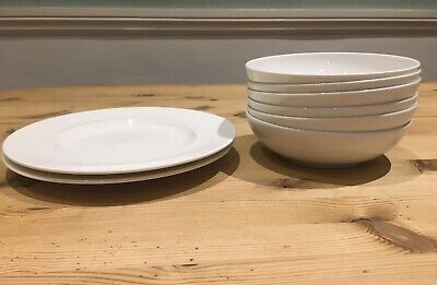 Raymond Blanc For John Lewis White China: Bowls And Plates. • 5£