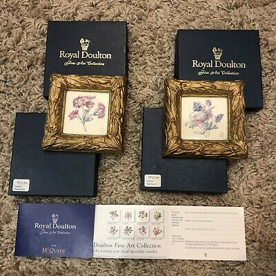 Royal Doulton Fine Art Collection From McQueen - 2 X Floral Frames • 7.50£