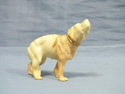 Rare 19c ROYAL WORCESTER HADLEY BLUSH FIGURE Of A HUNTING DOG 1885 • 29.95£