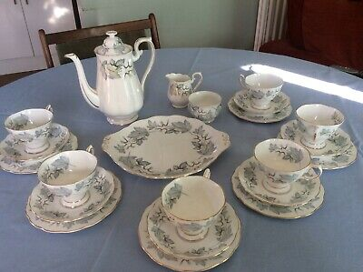 Royal Albert  Silver Maple  - Complete 22 Piece  Vintage Afternoon Teaset China • 79£
