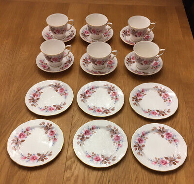 6 X Queen Anne ENGLISH BONE CHINA TRIOS, Cups, Saucers And Tea Plates • 60£