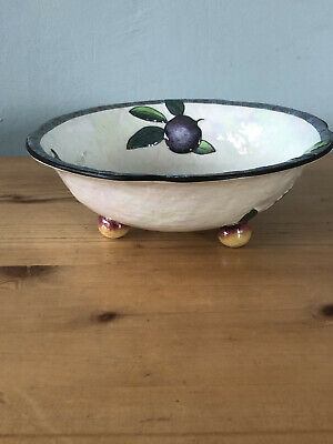 Vintage Rare Carlton Ware Pearl Lustre Embossed Fruit Bowl 1930s Collectable • 20£