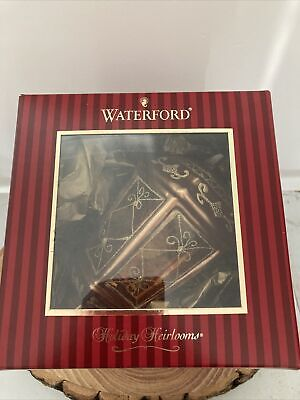 Waterford Crystal Holiday Heirlooms Golden Lantern Bauble New Boxed • 15£