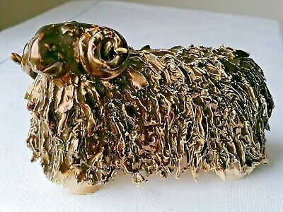Colley Arts Pottery Spaghetti Style  Bronze Lustre Highland Sheep • 25£