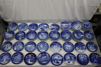 Set Of 32 Mint B & G Bing & Grondahl Christmas Plates Blue & White 1964-1998 (1) • 175.57£