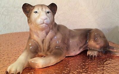 Vintage Melbaware Melba Ware Lioness Approx 15  Long Great Item ! • 24.99£