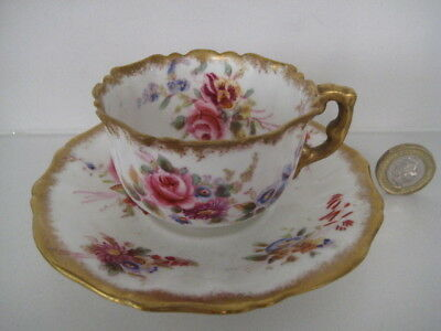 Very Rare Vintage Hammersley & Co Howards Sprays Demi Tasse Cup And Saucer • 74.99£