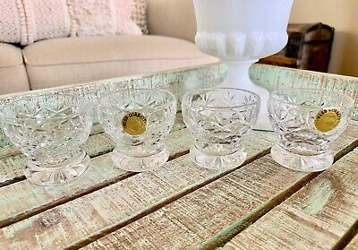 Webb Corbett Crystal Small Whiskey Glasses Footed Shot Glass Westminister  • 36.62£