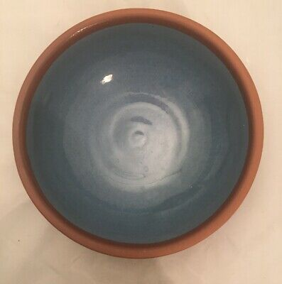 C H Brannam Barnstaple 1513 Studio Pottery Bowl Terracotta Blue Hand Made • 25£
