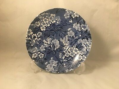 Rare Vintage B&L B Leighton Pottery May Blossom Blue Saucer Made In England • 30£
