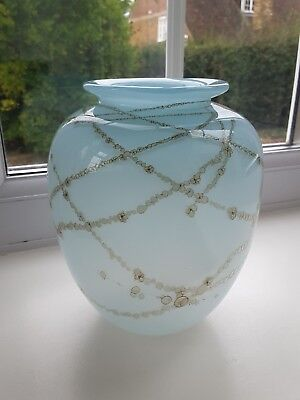 Vintage  Art Glass Vase Signed And Dated 1988. • 80£