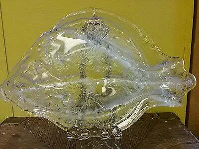 Art Opalescent Depressed Glass Fish Frosted  • 29£