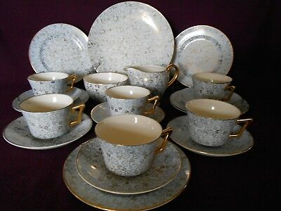 Vintage  Imperial  Powder Blue Gold Chintz Tea Set Victoria Pottery Fenton  • 80£