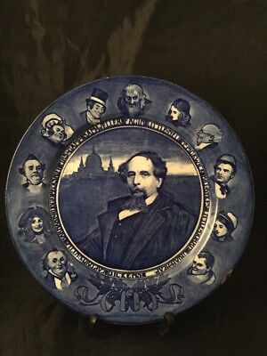 Vintage Antique Royal Doulton D2944 Dickens Blue Plate Made In England • 15£