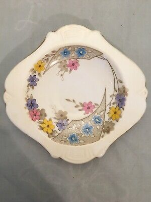 Plant Tuscan China Art Deco Antique Small Dish Plate • 29£