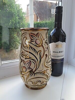 Vintage 1950's Wade 'Gothic ' Hand Decorated Vase • 30£