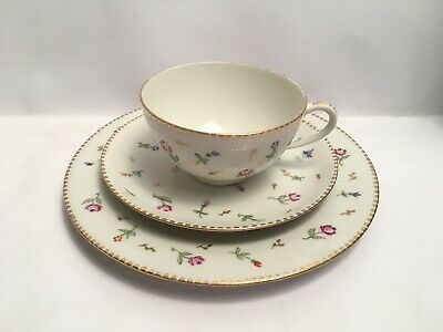 Vintage Cup Saucer Plate Trio Thomas Germany Floral Design China • 23.75£