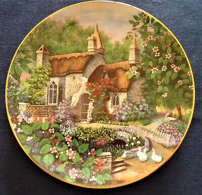 Franklin Mint Lillput Lane Convent In The Woods Fine Porcelain Plate • 9.99£