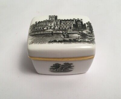 Royal Worcester Trinket Box With Lid Black And White Scenes 3851 England • 29£