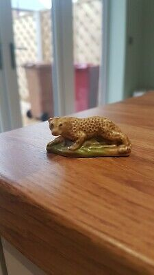 ⭐️Vintage Leopard Cheetah By Wade England ⭐️ Collectible Ex Condition ⭐️ • 11£