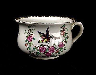 Devon Ware S & F Co Old Bow Chamber Pot / Early 20th Century Vintage Pottery  • 45£