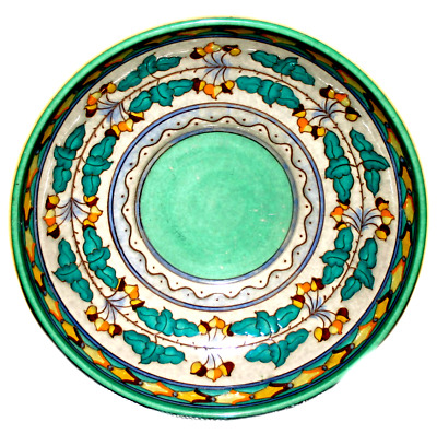 Charlotte Rhead Bursley Large Art Deco 1930 Bowl TL2 Charger Textured Design • 85.75£