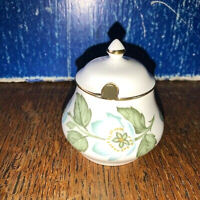 Crown Staffordshire Easter Glory Mustard Pot 7cm Height • 3.99£