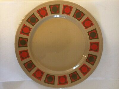 Pair Of Vintage Retro Plates Staffordshire Potteries 1970s Orange Beige  • 14.99£