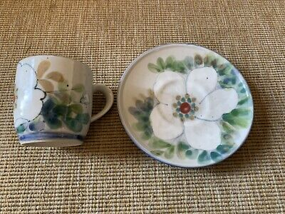 Highland Stoneware Cup And Saucer Free Hand Painted Scotland • 45£